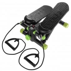 Степпер (міні-степпер) з еспандерами SportVida SV-HK0357 Black/Green
