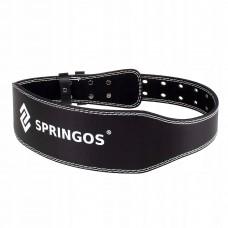 Пояс для важкої атлетики та пауерліфтингу Springos FA0119 M Black