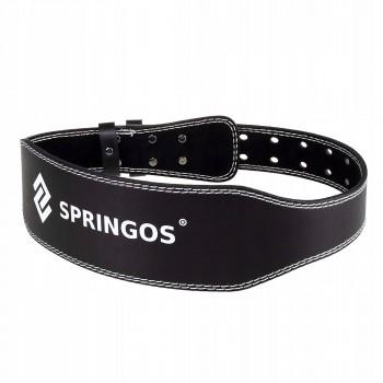 Пояс для важкої атлетики та пауерліфтингу Springos FA0120 L Black