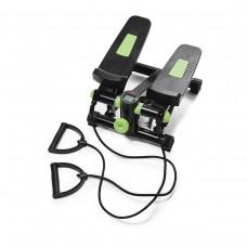 Степпер (міні-степпер) з еспандерами 4FIZJO 4FJ0212 Black/Green