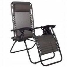 Шезлонг (крісло-лежак) для пляжу, тераси та саду Springos Zero Gravity GC0001