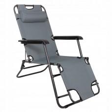 Шезлонг (крісло-лежак) для пляжу, тераси та саду Springos Zero Gravity GC0013