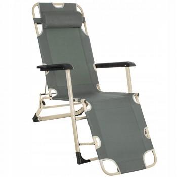 Шезлонг (крісло-лежак) для пляжу, тераси та саду Springos Zero Gravity GC0036