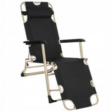 Шезлонг (крісло-лежак) для пляжу, тераси та саду Springos Zero Gravity GC0037