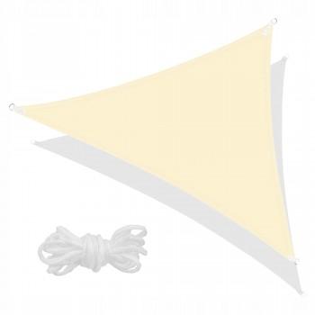 Тент-парус тіньовий для дому, саду та туризму Springos 3 x 3 x 3 м SN1016 Light Yellow
