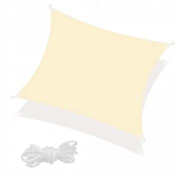 Тент-парус тіньовий для дому, саду та туризму Springos 4 x 4 м SN1024 Light Yellow
