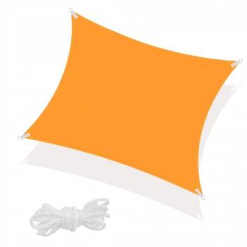 Тент-парус тіньовий для дому, саду та туризму Springos 3 x 3 м SN1031 Orange