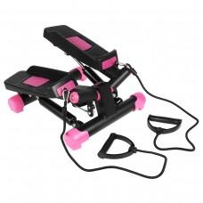 Степпер поворотний (міні-степпер) з еспандерами SportVida SV-HK0360 Black/Pink
