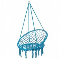 Підвісне крісло-гойдалка (плетене) Springos SPR0025 Blue