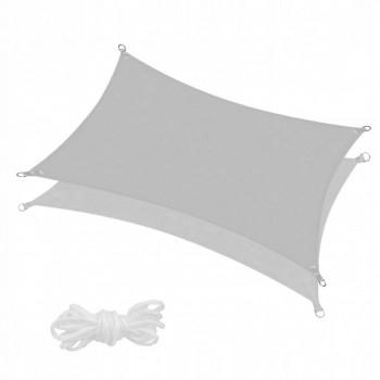 Тент-парус тіньовий для дому, саду та туризму Springos 4 x 3 м SN1046 Grey