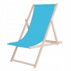 Шезлонг (крісло-лежак) дерев'яний для пляжу, тераси та саду Springos DC0001 BLUE