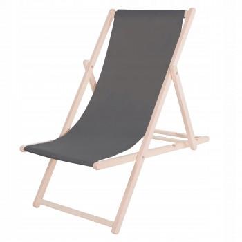 Шезлонг (крісло-лежак) дерев'яний для пляжу, тераси та саду Springos DC0001 GR