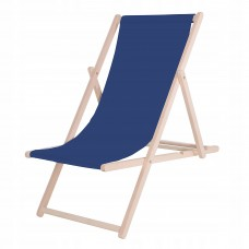 Шезлонг (крісло-лежак) дерев'яний для пляжу, тераси та саду Springos DC0001 NB