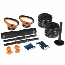 Набір гантелі, штанга, гирі SportVida 4 в 1 10 кг SV-HK0412