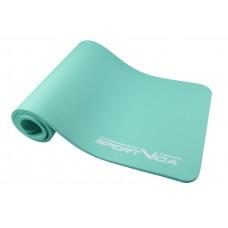 Коврик (мат) для йоги та фітнесу SportVida NBR 1 см SV-HK0067 Mint