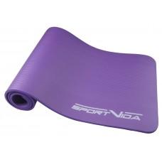 Коврик (мат) для йоги та фітнесу SportVida NBR 1 см SV-HK0068 Violet