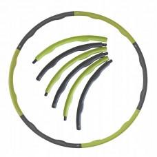 Обруч масажний Hula Hoop SportVida 100 см 1.2 кг SV-HK0153 Grey/Green