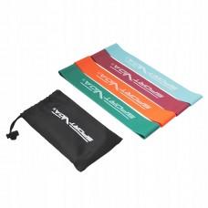 Резинка для фітнесу та спорту (стрічка-еспандер) SportVida Mini Power Band 4 шт 0-20 кг SV-HK0205