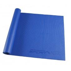 Коврик (мат) для йоги та фітнесу SportVida PVC 4 мм SV-HK0051 Blue
