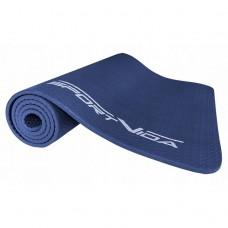 Коврик (мат) для йоги та фітнесу текстурований SportVida NBR 1 см SV-HK0072 Blue