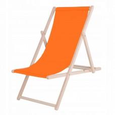 Шезлонг (крісло-лежак) дерев'яний для пляжу, тераси та саду Springos DC0001 OR