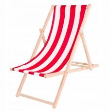 Шезлонг (крісло-лежак) дерев'яний для пляжу, тераси та саду Springos DC0001 WHRD