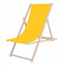 Шезлонг (крісло-лежак) дерев'яний для пляжу, тераси та саду Springos DC0001 YL